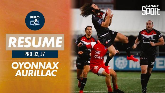 Le résumé d'Oyonnax / Aurillac : PRO D2