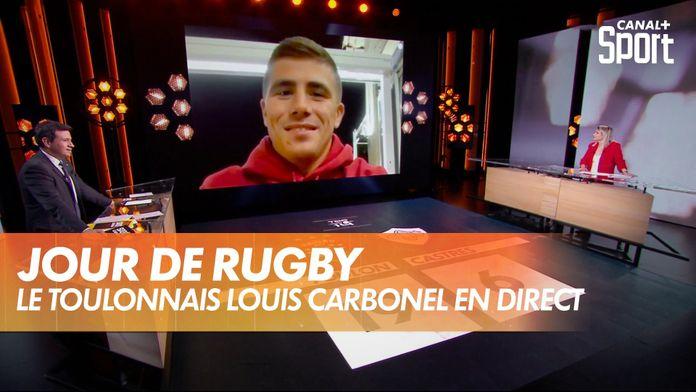 Louis Carbonel se confie en direct dans Jour de Rugby : TOP 14