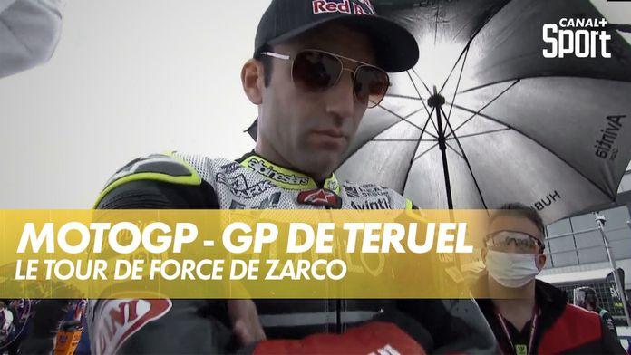 Johann Zarco avant le départ : Grand Prix de Teruel