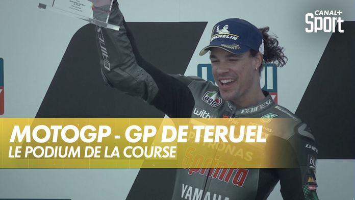 Le podium de la course : Grand Prix de Teruel