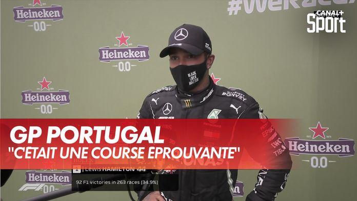 """Lewis Hamilton : """"Aujourd'hui c'était difficile..."""" : Grand Prix du Portugal"""