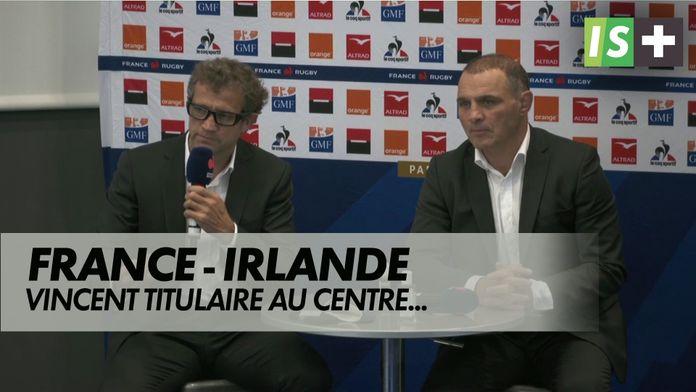 Vincent titulaire au centre, Fickou glisse à l'aile : XV de France
