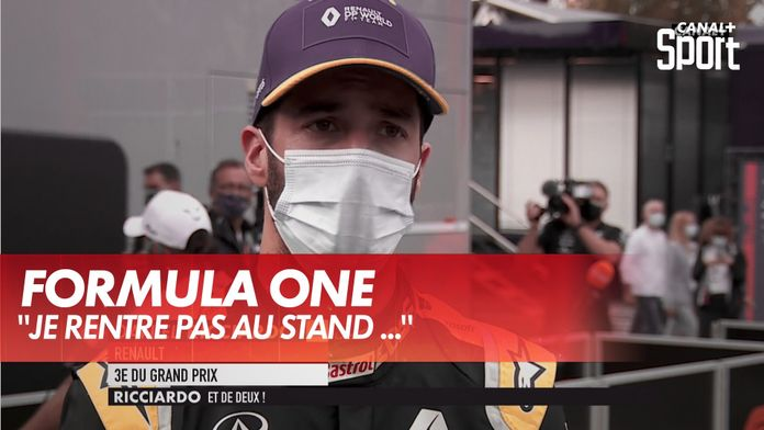 "Ricciardo: ""Je ne rentre pas au stand je reste en piste"" : Formula One"