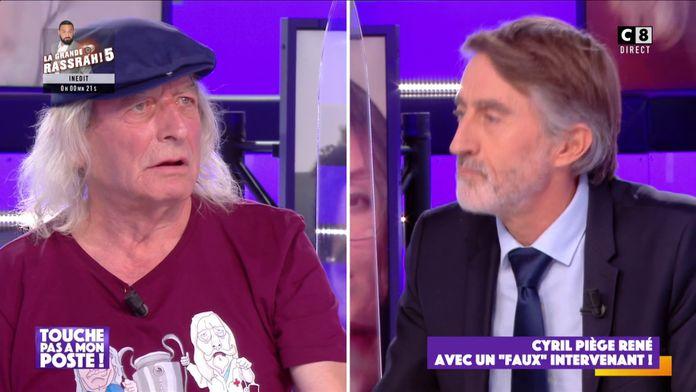 """Cyril Hanouna piège René avec un """"faux"""" intervenant !"""