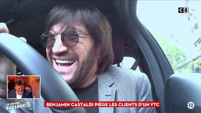 Benjamin Castaldi piège les clients d'un VTC