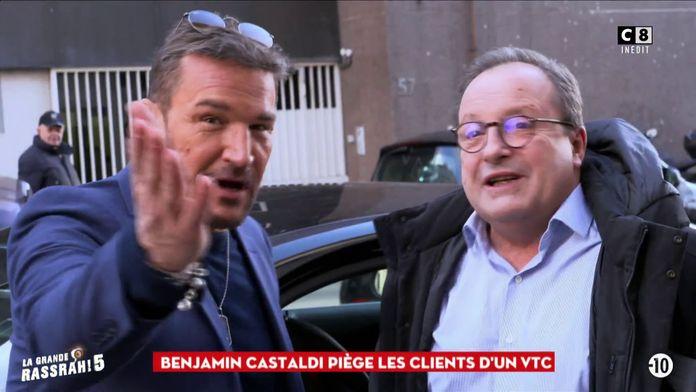 Benjamin Castaldi piège à nouveau les clients d'un VTC !