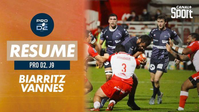 Le résumé de Biarritz / Vannes : PRO D2