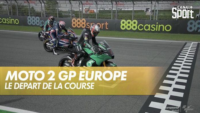 Le départ de la course : Grand Prix d'Europe Moto 2