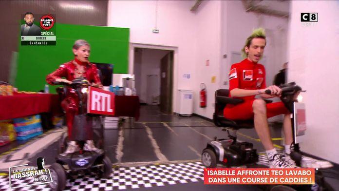 Isabelle Morini-Bosc affronte Teo Lavabo dans une course de caddies !