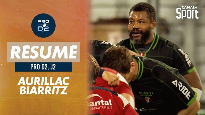 Le résumé de Aurillac / Biarritz : Pro D2