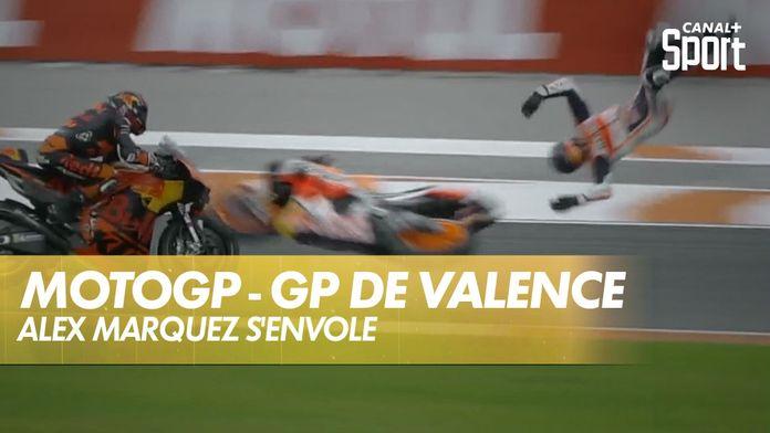 Chute monstrueuse d'Álex Márquez ! : Grand Prix de Valence