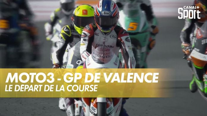 Le départ de la course Moto 3 ! : Grand Prix de Valence