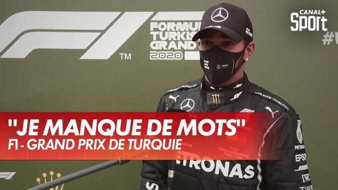 La première réaction de Lewis Hamilton après son 7ème titre : Grand Prix de Turquie