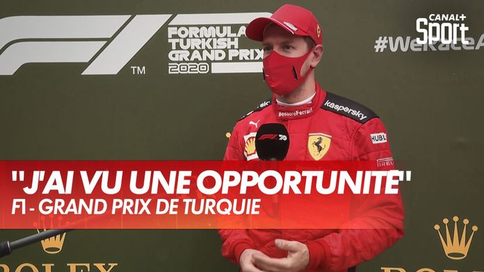 La réaction de Vettel après son podium : Grand Prix de Turquie
