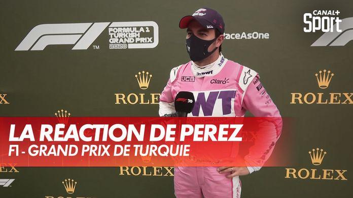 La réaction de Sergio Perez après sa 2ème place : Grand Prix de Turquie
