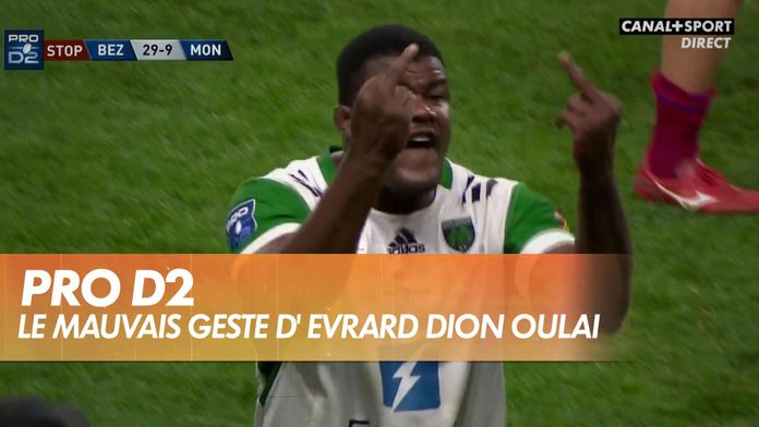 Evrard Dion Oulai perd son sang-froid pendant Béziers - Montauban : Late Rugby Club