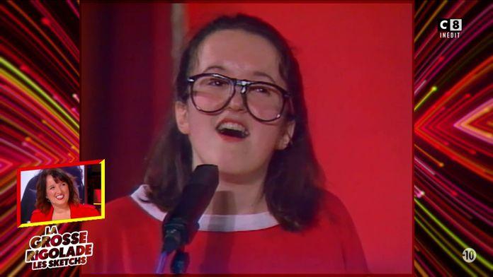 La première apparition télévisée d'Anne Roumanoff en 1987