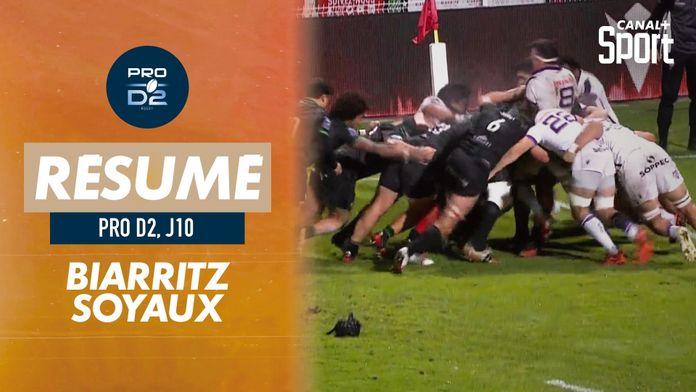 Le résumé de Biarritz / Soyaux-Angoulême : PRO D2