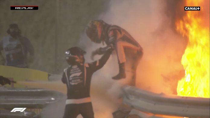 Romain Grosjean miraculé : Grand Prix de Bahrein