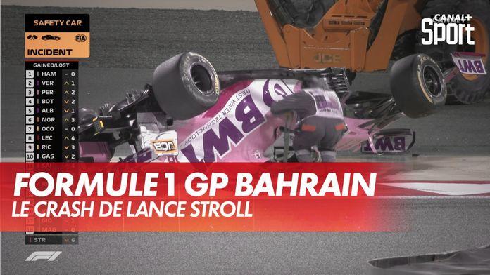 Le crash de Lance Stroll : Grand Prix de Bahrein