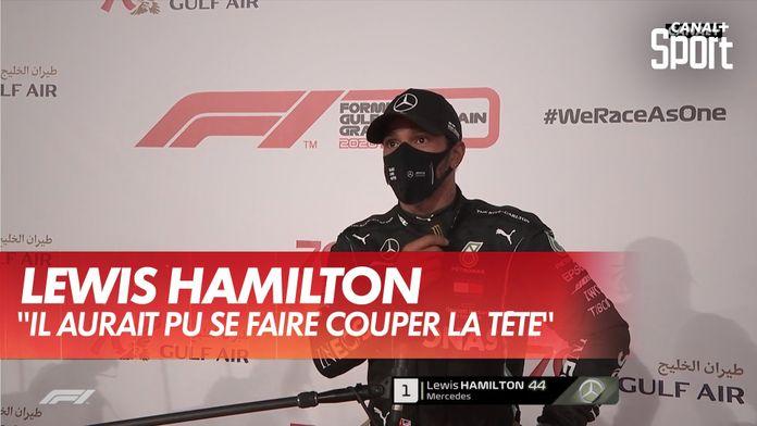 """Hamilton: """"Il aurait pu se faire couper la tête"""" : Grand Prix de Bahrein"""