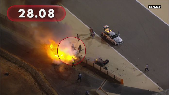 Grosjean 28 secondes en enfer ... : Formula One