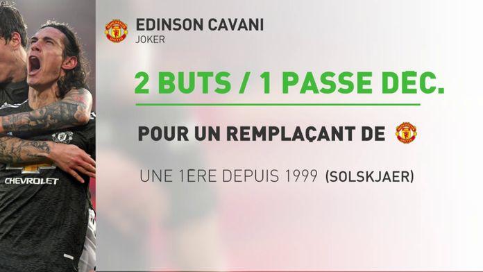 Cavani sauve Manchester United : Premier League J10