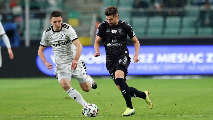 Skrót meczu Legia - Górnik