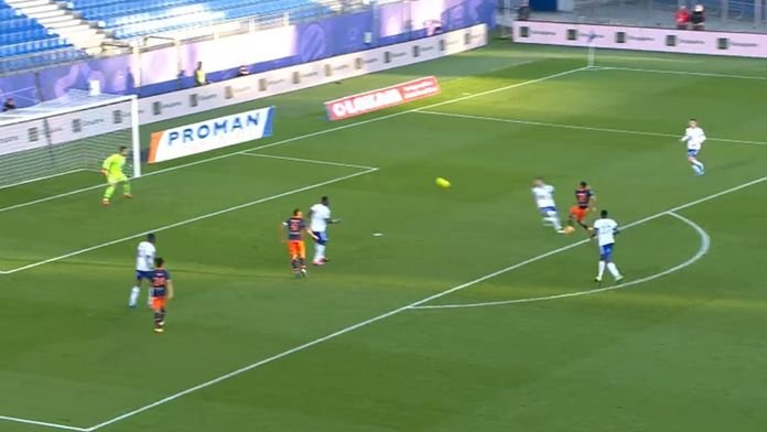 Skrót meczu Montpellier - Strasbourg