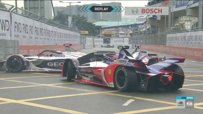 Eprix de Hong Kong - Crash de Nasr and Mahindras