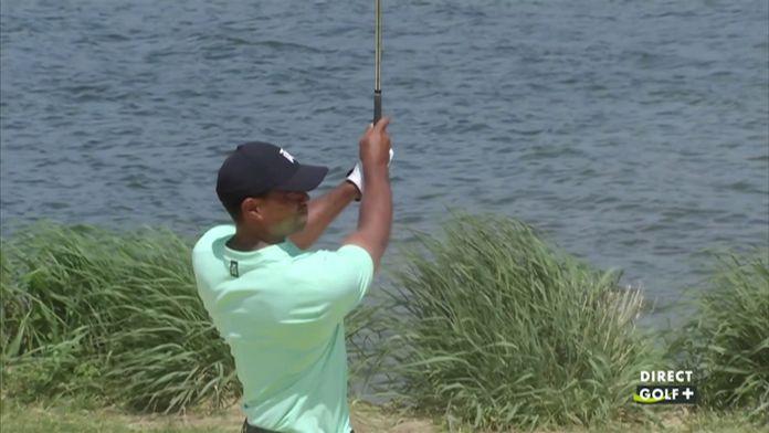 Un coup exceptionnel de Tiger Woods depuis le bunker.