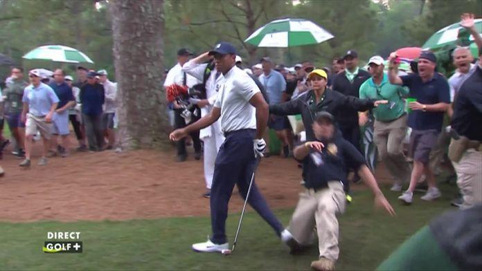 Fantastique coup de Tiger Woods qui évite également une blessure !