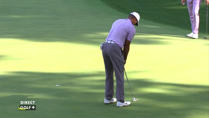 Birdie de Tiger Woods sur le 13 !