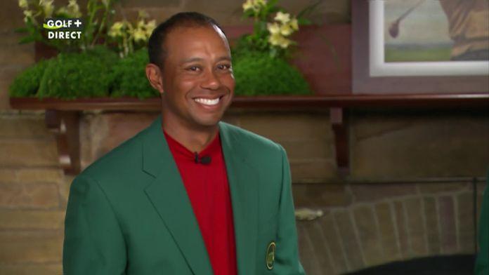 La réaction de Tiger Woods après son sacre !