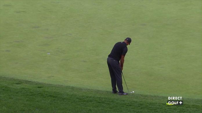 Premier birdie de la journée pour Tiger Woods !