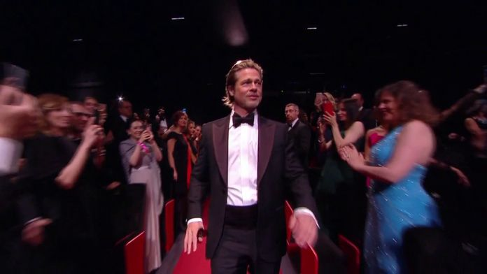 Accueil de Brad Pitt dans le Palais des Festivals - Cannes 2019