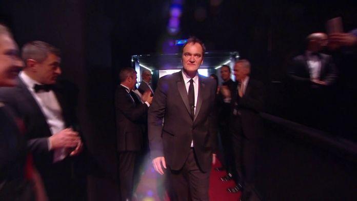 Accueil de Quentin Tarantino dans le Palais des Festivals - Cannes 2019