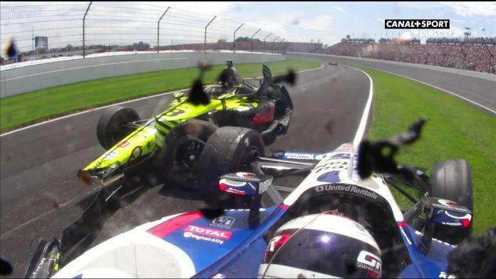 Crash entre Bourdais et Rahal
