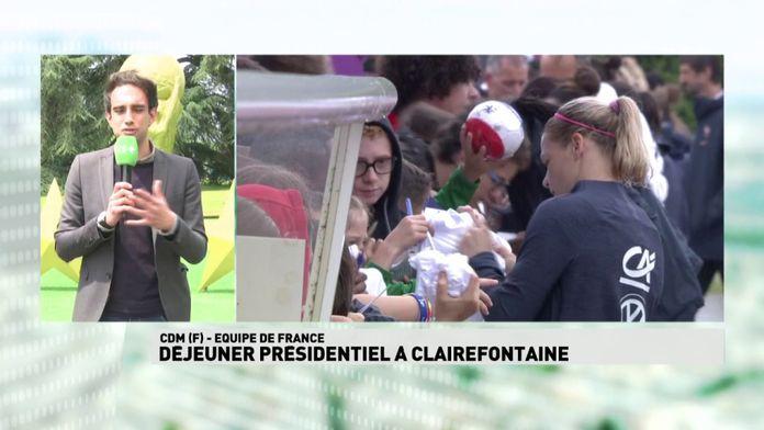 Déjeuner présidentiel à Clairefontaine