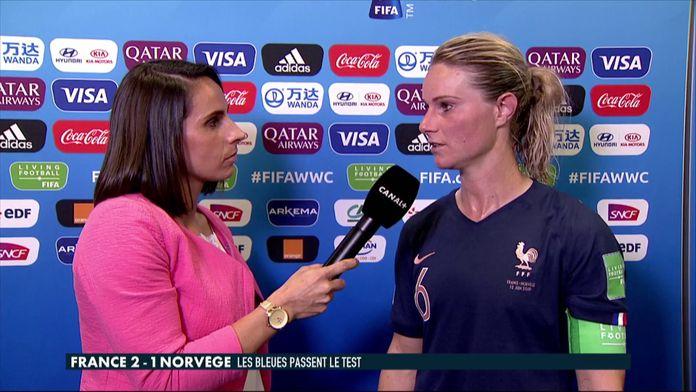 La réaction d'Amandine Henry après France / Norvège