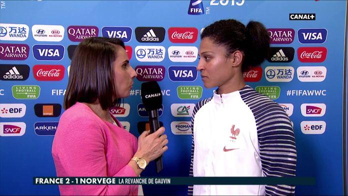 La réaction de Valérie Gauvin après France / Norvège