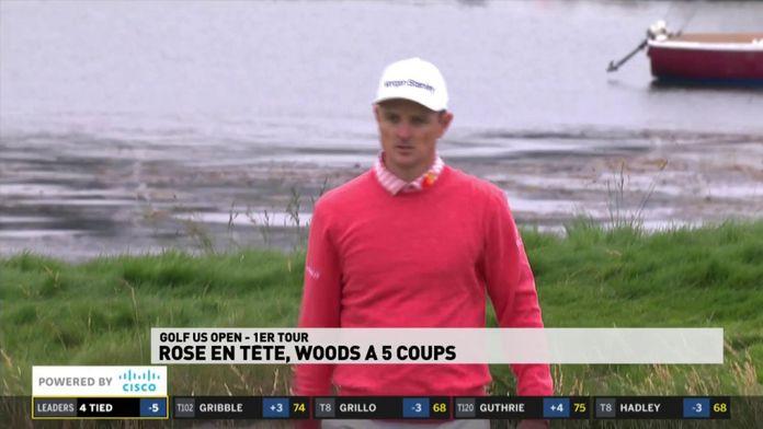 Justin Rose leader, Tiger Woods à 5 coups.