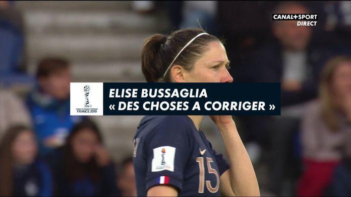 """Élise Bussaglia : """"Des choses à corriger"""