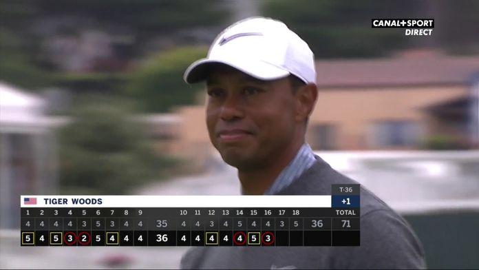 Tiger Woods s'offre un superbe putt sur le 16
