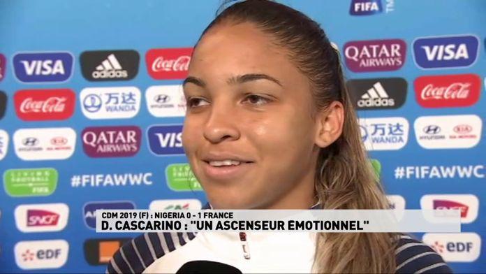 """D Cascarino : """"Un ascenseur émotionnel'"""