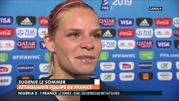 La réaction d'Eugénie Le Sommer après Nigéria / France