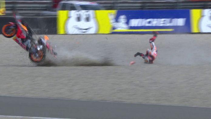 La terrible chute de Lorenzo lors des essais libres 1