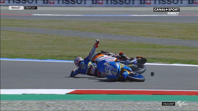 Lopez et Canet s'accrochent et chutent lors des essais libres