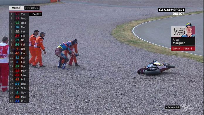 La moto d'Álex Márquez prend feu lors des essais libres 2 !