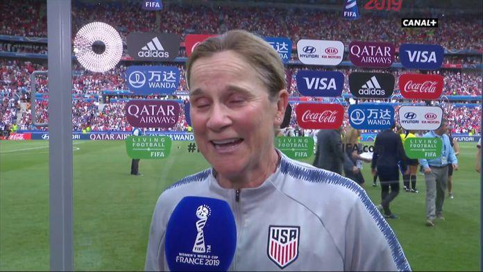 La réaction de Jill Ellis après la finale
